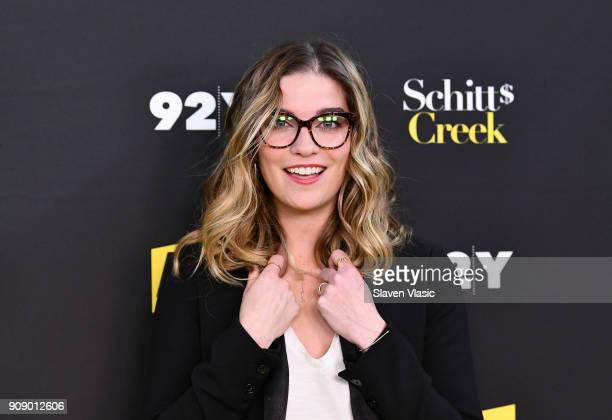 Actress Annie Murphy attends An Evening with the Cast of 'Schitt's Creek' at 92nd Street Y on January 22 2018 in New York City