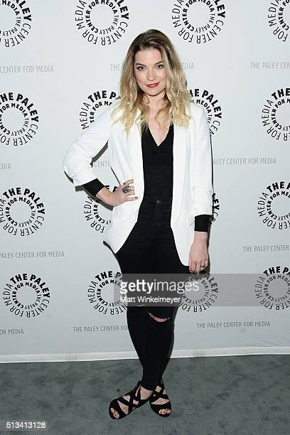 Actress Annie Murphy attends the Paley Center for Media presents An Evening with Schitt's Creek at The Paley Center for Media on March 2 2016 in...