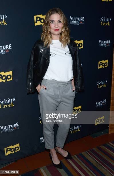Actress Annie Murphy attends the Schitt's Creek panel during Vulture Festival Los Angeles at Hollywood Roosevelt Hotel on November 19 2017 in...