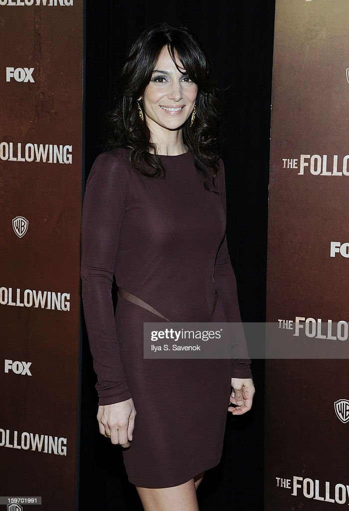 Actress Annie Parisse attends 'The Following' World Premiere at The New York Public Library on January 18, 2013 in New York City.