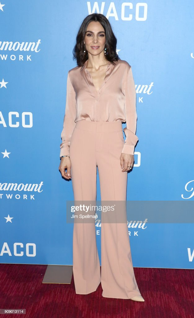 Actress Annie Parisse attends the 'Waco' world premiere at Jazz at Lincoln Center on January 22, 2018 in New York City.