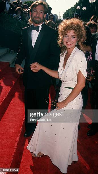 Actress Annie Potts and husband James Hayman attending 42nd Annual Primetime Emmy Awards on September 16 1990 at the Pasadena Civic Auditorium in...
