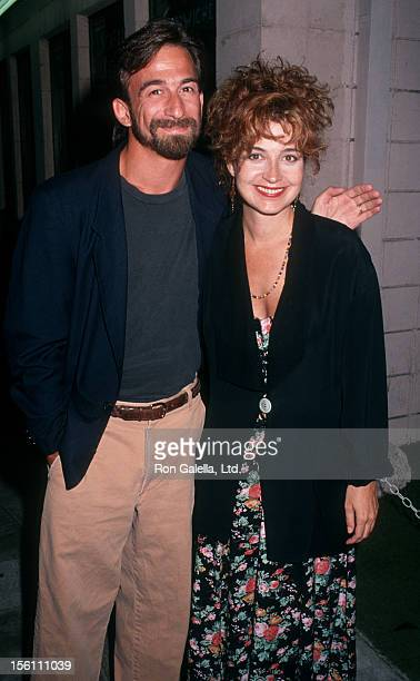 Actress Annie Potts and husband James Hayman attending a party for 'Buffy the Vampire Slayer' on July 30 1992 at Kelbo's Restaurant in Los Angeles...