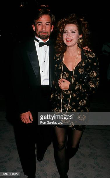 Actress Annie Potts and husband James Hayman attending 'National Jewish Fund Dinner' on November 29 1989 at the Beverly Hilton Hotel in Beverly Hills...