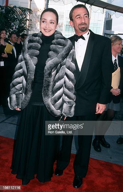 Actress Annie Potts and husband James Hayman attending Second Annual TV Guide Awards on March 5 2000 at 20th Century Fox Studios in Los Angeles...