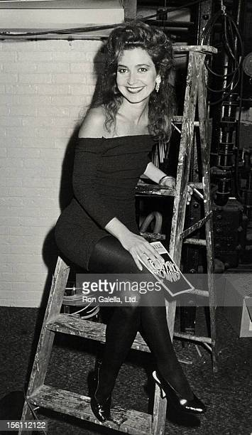 Actress Annie Potts attending a performance of 'Romance Romance' on July 27 1988 in New York City New York