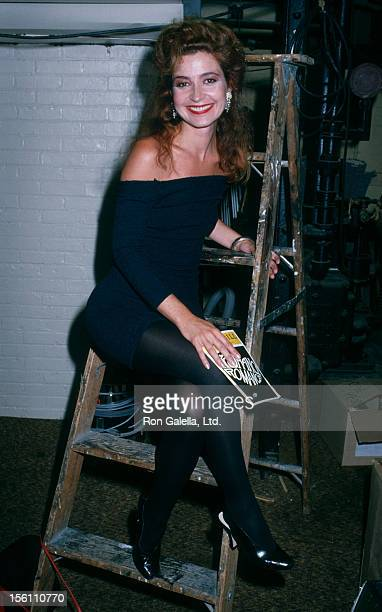 Actress Annie Potts attending the performance of 'Romance Romance' on July 27 1988 in New York City New York