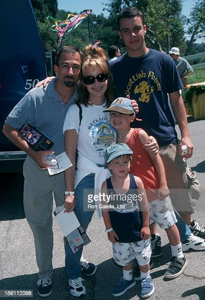 Actress Annie Potts husband James Hayman and sons Doc Hayman Harry Hayman and Clay Potts attending 'Pediatric AIDS Benefiting the Elizabeth Glaser...