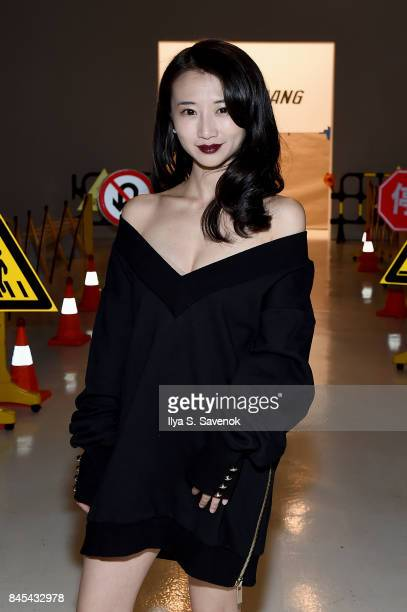Actress Annie Q attends Jarel Zhang fashion show during New York Fashion Week The Shows at Gallery 3 Skylight Clarkson Sq on September 10 2017 in New...