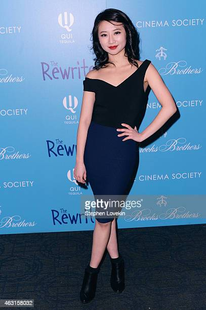 Actress Annie Q attends The Cinema Society And Brooks Brothers Host A Screening Of 'The Rewrite' at Landmark Sunshine Cinema on February 10 2015 in...