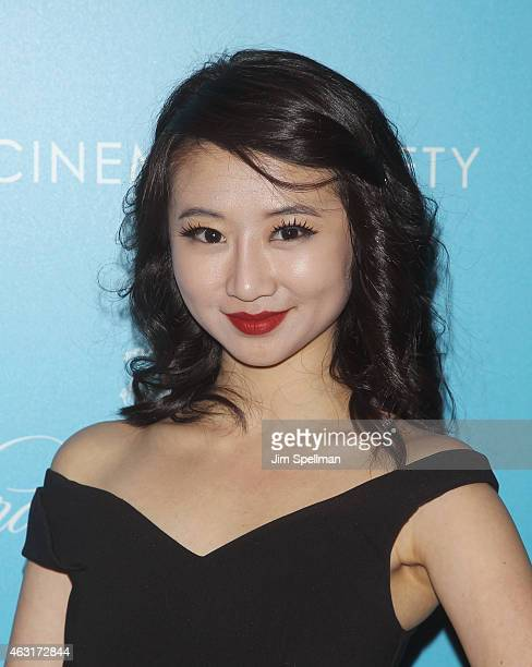 Actress Annie Q attends The Cinema Society and Brooks Brothers host a screening of 'The Rewrite' at Landmark's Sunshine Cinema on February 10 2015 in...