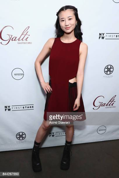 Actress Annie Q attends the Galtiscopio Front Row/Backstage September 2017 New York Fashion Week First Stage at The Gallery at The Dream Downtown...