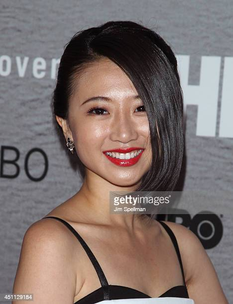 """Actress Annie Q. Attends """"The Leftovers"""" premiere at NYU Skirball Center on June 23, 2014 in New York City."""