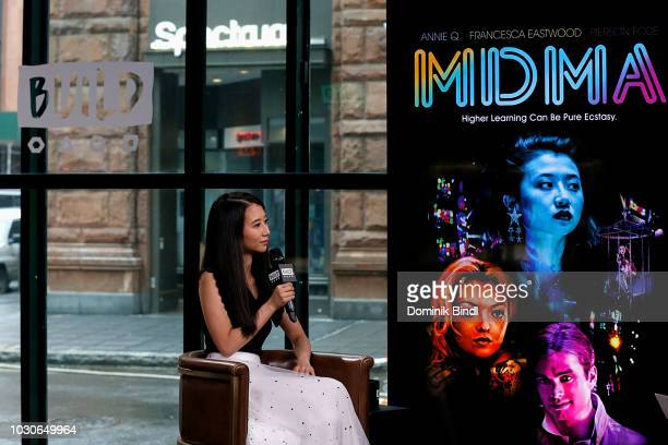 Actress Annie Q visits Build Series to discuss the movie MDMA at Build Studio on September 10 2018 in New York City