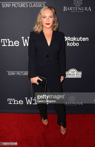 Actress Annie Starke attends Sony Pictures Classics' Los Angeles premiere of The Wife at the Pacific Design Center on July 23 2018 in West Hollywood...
