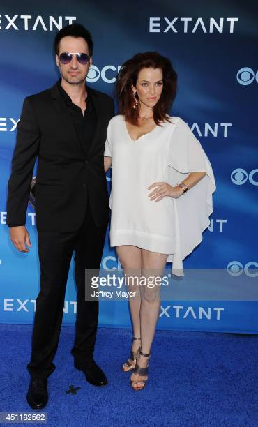 Actress Annie Wersching and guest attend the Premiere Of CBS Films' 'Extant' at California Science Center on June 16 2014 in Los Angeles California