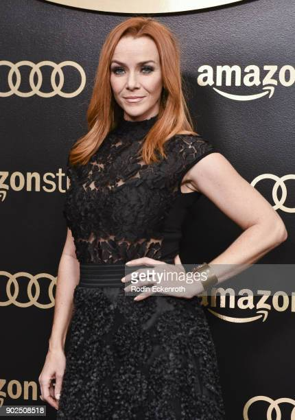 Actress Annie Wersching arrives at the Amazon Studios Golden Globes Celebration at The Beverly Hilton Hotel on January 7 2018 in Beverly Hills...