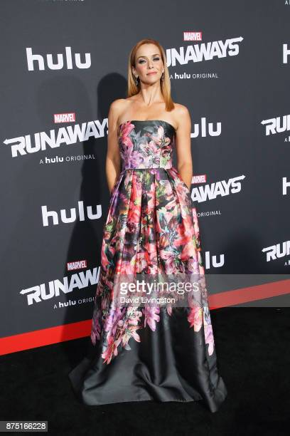 Actress Annie Wersching arrives at the premiere of Hulu's Marvel's Runaways at the Regency Bruin Theatre on November 16 2017 in Los Angeles California