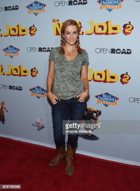 "Actress Annie Wersching arrives at the premiere of Open Road Films' ""The Nut Job 2: Nutty By Nature"" at the Regal Cinemas L.A. Live on August 5, 2017..."