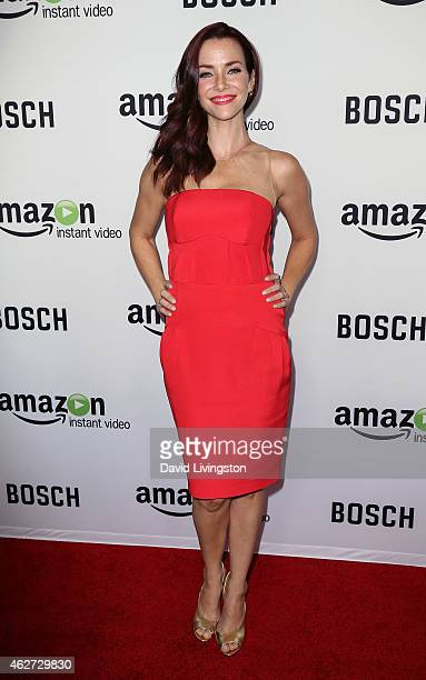 Actress Annie Wersching attends a screening of Amazon's 1st original drama series Bosch at The Dome at Arclight Hollywood on February 3 2015 in...