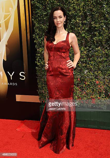 Actress Annie Wersching attends the 2015 Creative Arts Emmy Awards at Microsoft Theater on September 12 2015 in Los Angeles California