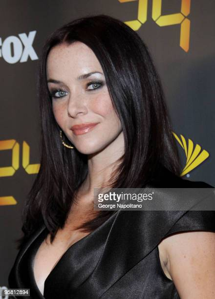 Actress Annie Wersching attends the '24' Season 8 premiere at Jack H Skirball Center for the Performing Arts on January 14 2010 in New York New York