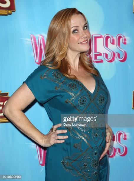 Actress Annie Wersching attends the national tour of 'Waitress' Los Angeles engagement celebration at the Hollywood Pantages Theatre on August 3 2018...