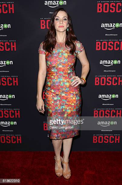Actress Annie Wersching attends the premiere of Amazon's 'Bosch' Season 2 at SilverScreen Theater at the Pacific Design Center on March 3 2016 in...