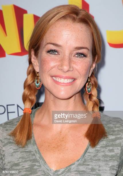 "Actress Annie Wersching attends the premiere of Open Road Films' ""The Nut Job 2: Nutty by Nature"" at Regal Cinemas L.A. Live on August 5, 2017 in Los..."
