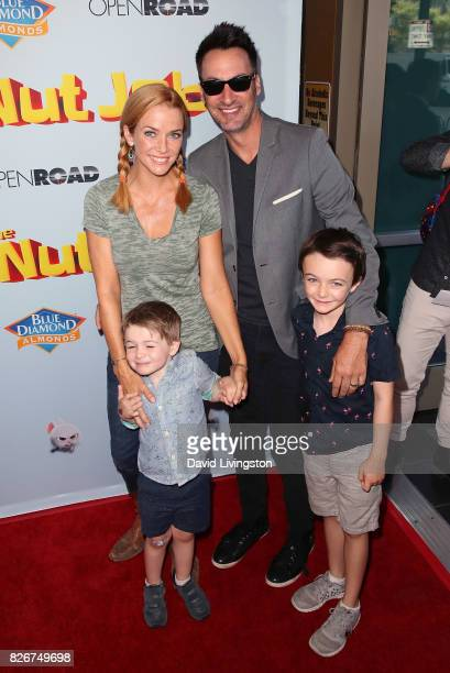 "Actress Annie Wersching , husband actor Stephen Full and children attend the premiere of Open Road Films' ""The Nut Job 2: Nutty by Nature"" at Regal..."