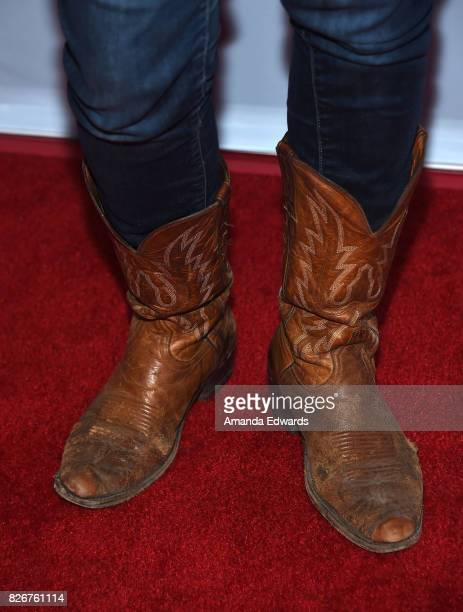 "Actress Annie Wersching, shoe detail, arrives at the premiere of Open Road Films' ""The Nut Job 2: Nutty By Nature"" at the Regal Cinemas L.A. Live on..."