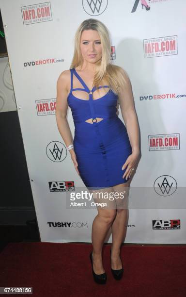 Actress Annika Albright arrives for the 33rd Annual XRCO Awards Show held at OHM Nightclub on April 27 2017 in Hollywood California