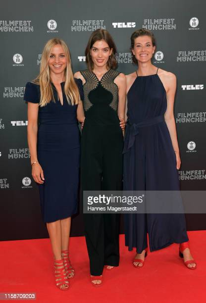 Actress Annika Blendl Lida Freudenreich and Leonie Stade during the opening night of the Munich Film Festival 2019 at Mathaeser Filmpalast on June 27...