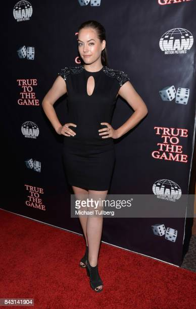 Actress Annika Noelle attends the premiere of Imani Motion Pictures' True To The Game at Directors Guild Of America on September 5 2017 in Los...
