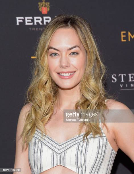 Actress Annika Noelle attends the Television Academy's Daytime Programming Peer Group Reception at Saban Media Center on August 22 2018 in North...
