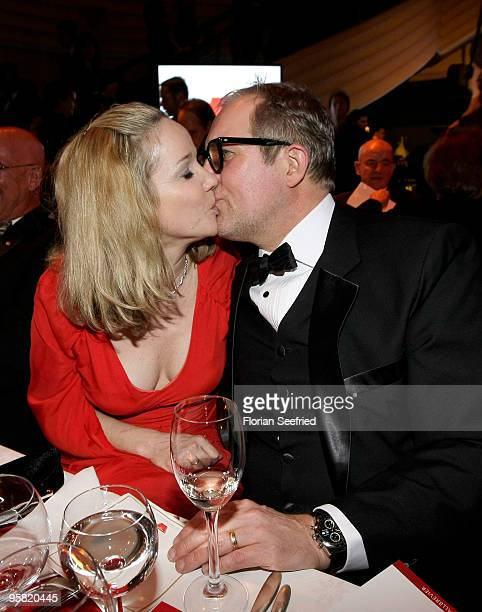 Actress AnnKathrin Kramer and actor Harald Krassnitzer attend the 37th German Filmball 2010 at the Hotel Bayerischer Hof on January 16 2010 in Munich...