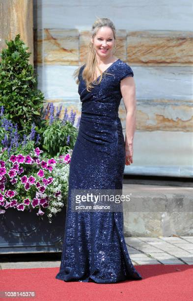 Actress AnnKathrin Kramer poses before the opening of the 104th Bayreuth Festival in Bayreuth Germany 25 July 2015 The Richard Wagner festival runs...