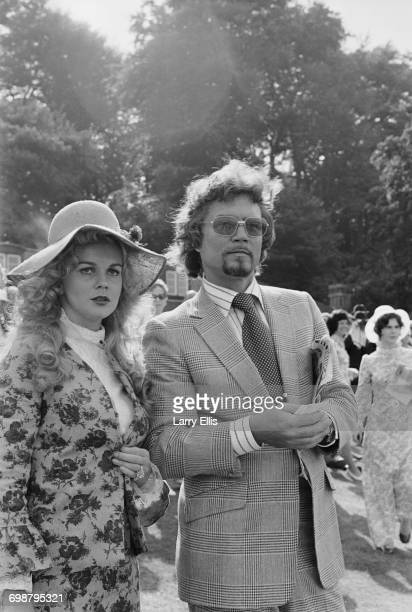 Actress AnnMargret with her husband actor Roger Smith at a Variety Club of Great Britain charity meet at Sandown Park UK 4th September 1971