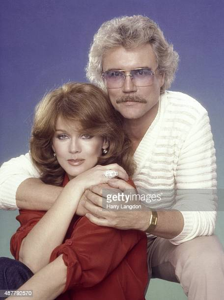 Actress AnnMargretand husband Roger smith pose for a portrait in 1980 in Los Angeles California