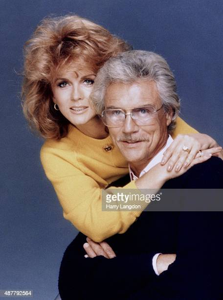 Actress Ann-Margretand husband Roger smith pose for a portrait in 1985 in Los Angeles, California.