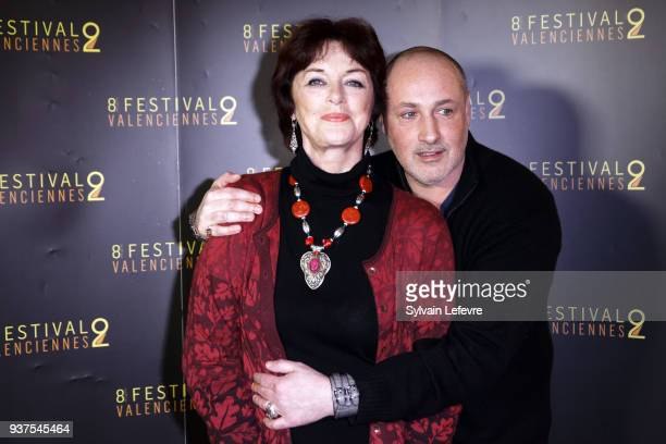 Actress Anny Duperey and Romeo Sarfati attend the photocall before the closing ceremony of Valenciennes Film Festival on March 24 2018 in...