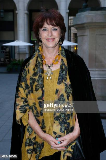 Actress Anny Duperey attends 'La Recompense' Theater Play at Theatre Edouard VII on April 24 2017 in Paris France