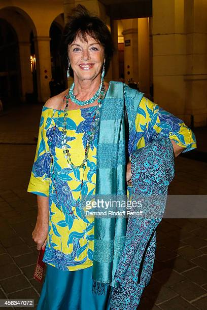 Actress Anny Duperey attends the tribute to Gisele Casadesus celebrating her 100th anniversary at Theatre Edouard VII on September 29 2014 in Paris...