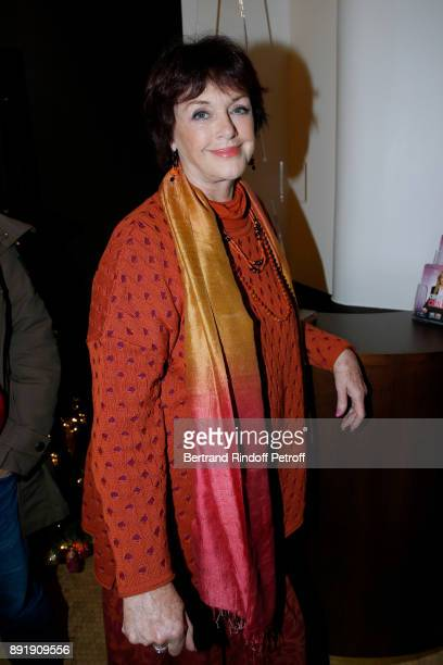 Actress Anny Duperey poses after Fred Testot performed in his One Man Show Presque Seul at Theatre de la Tour Eiffel on December 13 2017 in Paris...