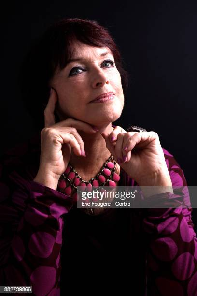 Actress Anny Duperey poses during a portrait session in Paris France on