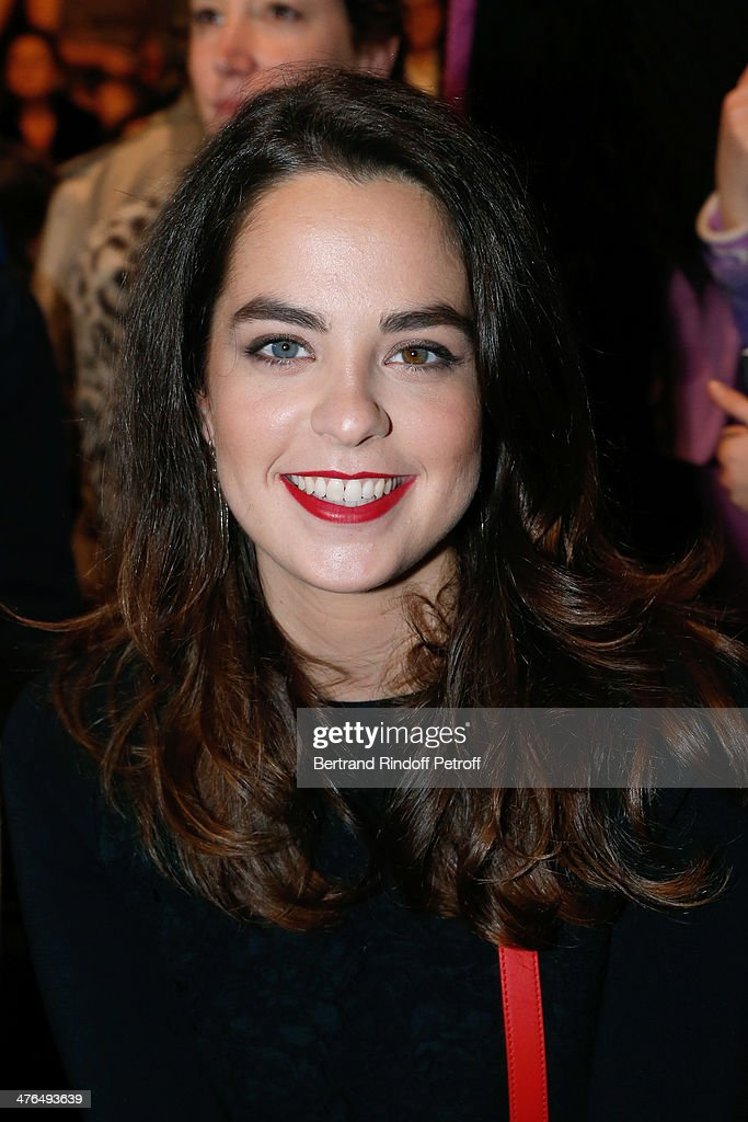 Actress Anouchka Delon attends the Elie Saab show as part of the Paris Fashion Week Womenswear Fall/Winter 2014-2015 on March 3, 2014 in Paris, France.
