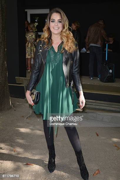 Actress Anouchka Delon attends the Elie Saab show as part of the Paris Fashion Week Womenswear Spring/Summer 2017 on October 1 2016 in Paris France