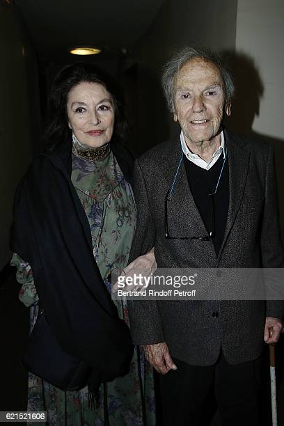 Actress Anouk Aime and Actor JeanLouis Trintignant attend 'Un Homme et Une Femme' screening for its 5Oth Anniversary at l'Arlequin on November 6 2016...