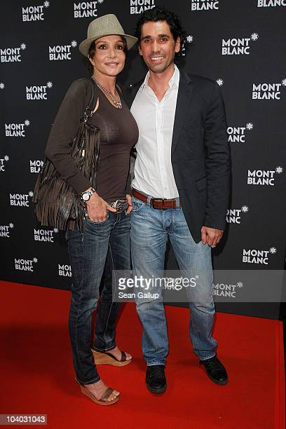 Actress Anouschka Renzi and guest attend the Montblanc John Lennon Edition Pen Launch Party at Spindler & Klatt on September 12, 2010 in Berlin,...