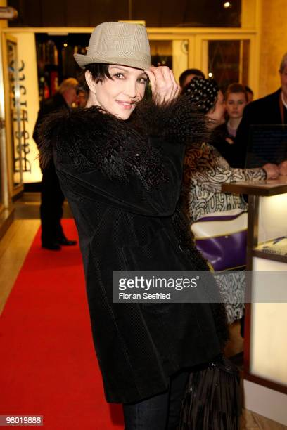 Actress Anouschka Renzi attends the premiere of 'Haltet Die Welt an' at cinema Astor Film Lounge on March 24, 2010 in Berlin, Germany.